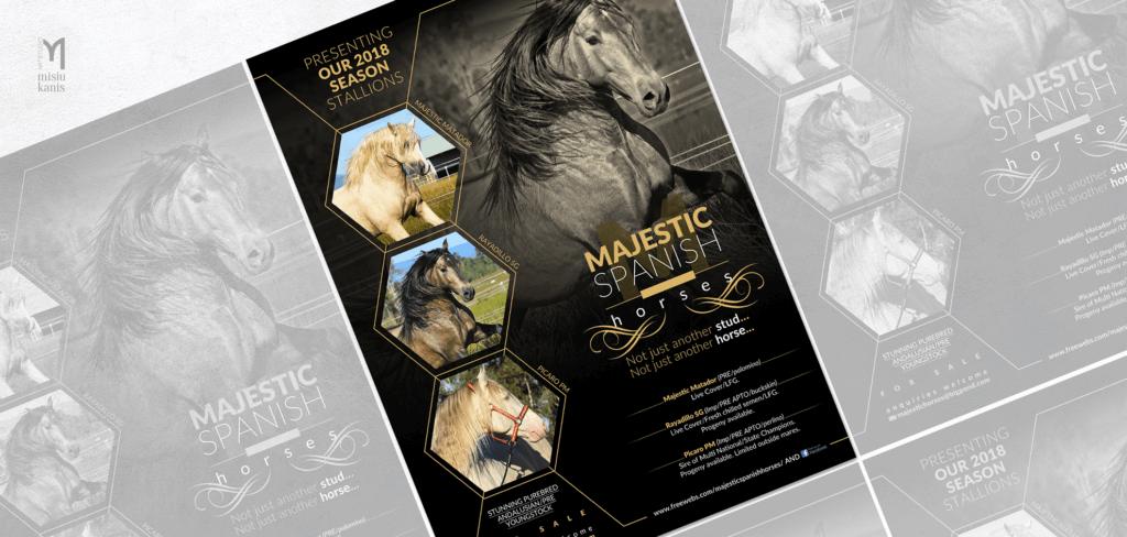 Reklama prasowa - Majestic Spanish Horses