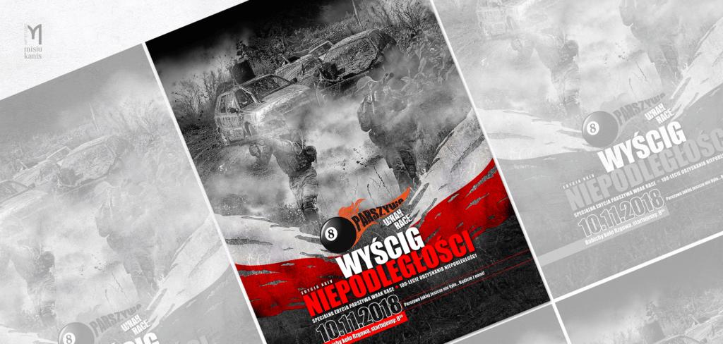 Plakat komercyjny - Parszywa Wrak Race