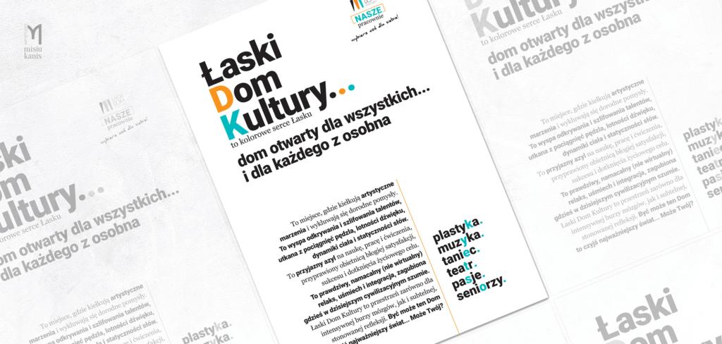 Plakat Kulturalny - Łaski Dom Kultury