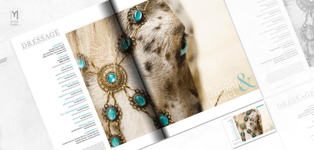 Baroque horse magazine - projekt rozkładówki otwierającej