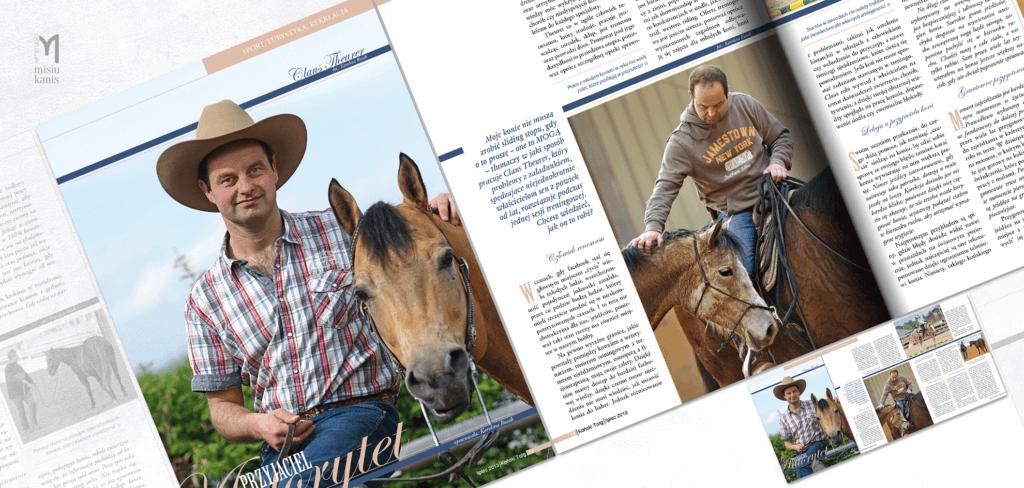 Koński Targ - strona tytułowa artykułu i rozkładówka
