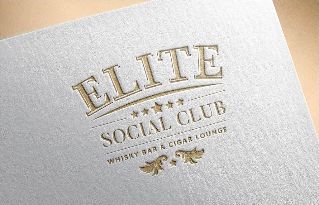 Elite Social Club Whisky Bar & Cigar Lounge - logo, alternatywne kolory