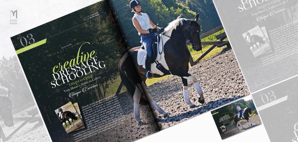 Baroque horse magazine - rozkładówka tytułowa artykułu