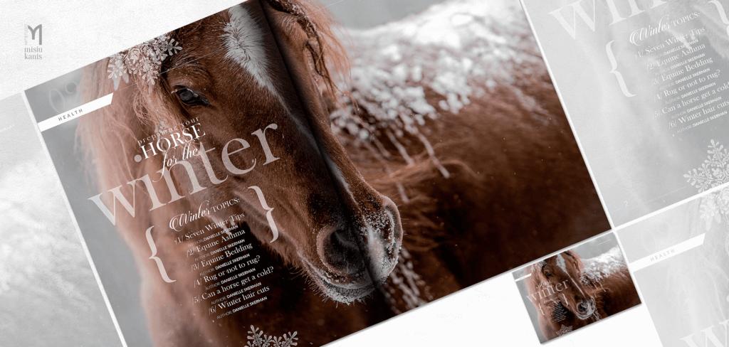 Baroque horse magazine - rozkładówka otwierająca