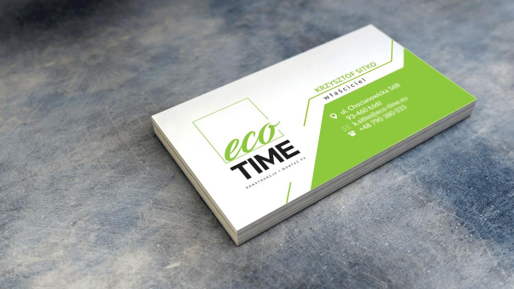 Eco Time - wizytówka (awers)