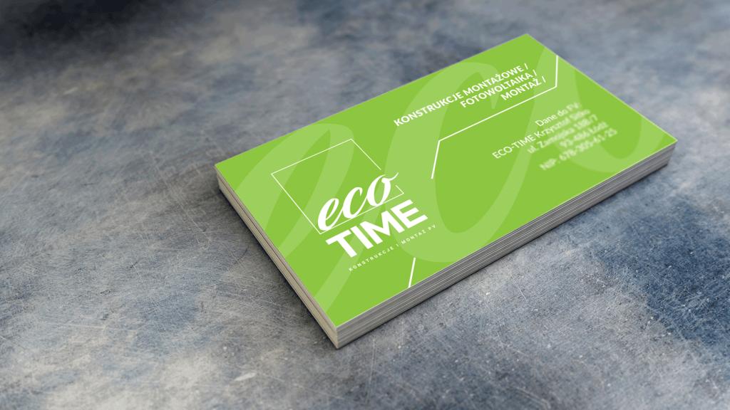 Eco Time - wizytówka (rewers)
