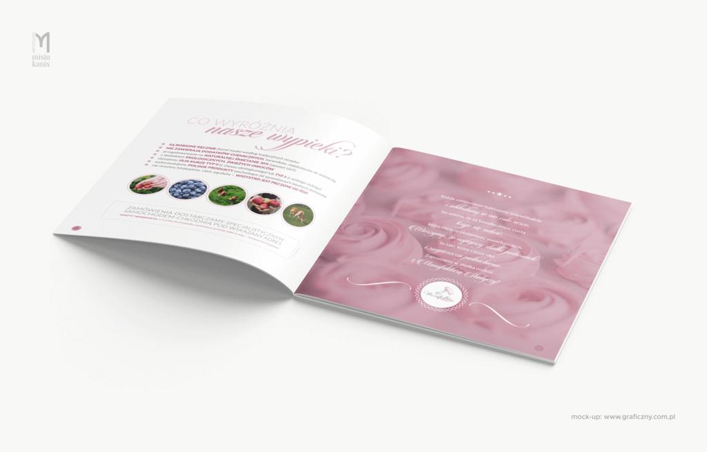 Manufaktura Słodyczy (Izabela Hanusz) – broszura degustacyjna (wersja online), format: 20×20 cm