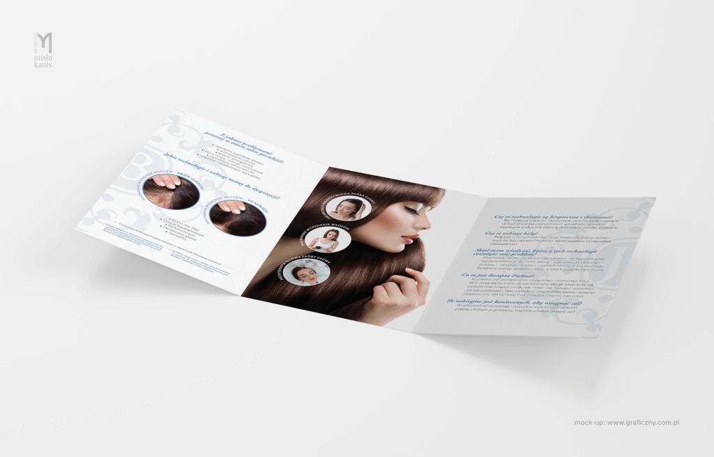 Jean Baptiste Klinika Urody & SPA – ulotka rozkładana (dwustronna), format: 3xA5