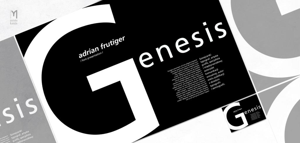 Projektowanie typograficzne - Adrian Frutiger