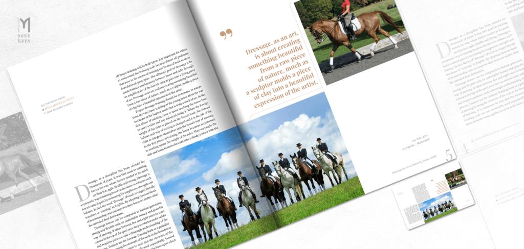 War Horse Magazine - rozkładówka artykułu