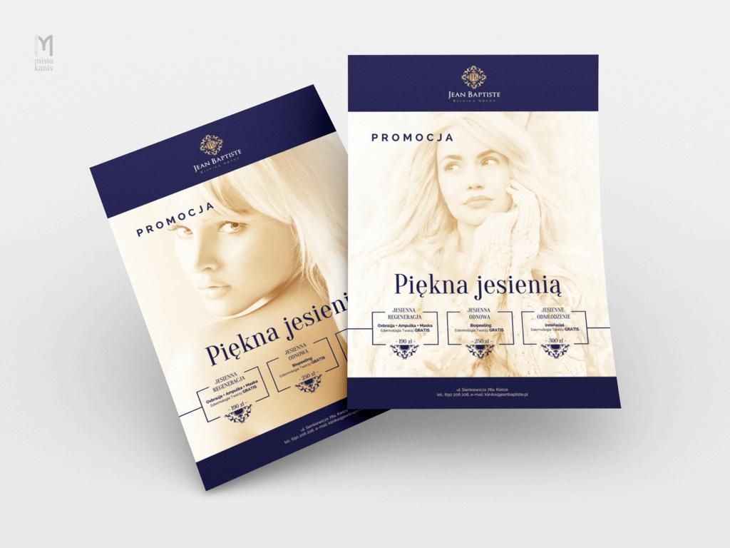 Jean Baptiste Klinika Urody & SPA – ulotka jednostronna, format: A4 pion