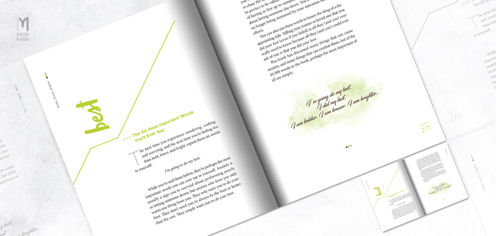 Bolder Braver Brighter - rozkładówka książki